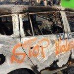 Derk Marseille bij de rellen opening Europese Centrale Bank in Frankfurt